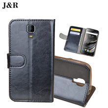 Leather Case For Uhans A101 A101S 5.0 inch Wallet Flip Cover J&R Luxury Stand Magnetic Mobile Phone Bags & Cases With Card Slots