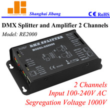 Free Shipping 2channels DMX signal splitter, one to two channel splitter,  ( other models 1 to 4, 1 to 8)   pn:RE2000