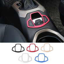 Newest Aluminium Hand Brake Cover Car Electronic Handbrake Decoration Cover Trim for Jeep Renegade 2015 up