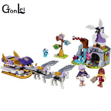 (GonLeI) 10413 Compatible with Elves Figures Aira's Pegasus Sleigh 41077 Worriz Fairy Toy For Children(China)