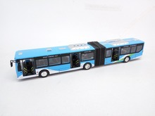27cm Alloy double bus, Die cast double Bus Model, with light and sound, pull back car, door open. free shipping