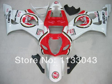 Injection For SUZUKI GSX-R1000 K3 03 04 GSX R1000 K3 White RedH4365 GSXR 1000 2003 2004 GSXR1000 Fairing Kit+7gifts