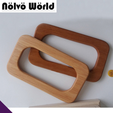 1 pair=2 pieces,16.5X9.5cm Solid Wood Big hand made bags handbags rectangle handle,Save Your Wood purse handle,3 Colors