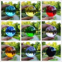 1 Piece 50mm Crystal Ball Crafts 9 Colors Can Be Chosen Glass Ball Feng Shui Ornaments Globe Miniatures For Gifts Home Decor