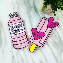 NEW 3D Boys Tears Mineral Water Ice Cream Lolly Case for iPhone 4 4S SE 5 5S 5C 6 6S 7 7S & Plus Lick Me Dolls Silicone Cover