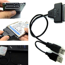 Hard Disk Drive SATA 7+15 Pin 22 to USB 2.0 Adapter Cable For 2.5 HDD Laptop smt88