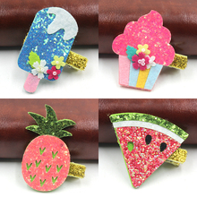 1 PCS 2017 New Fashion Cartoon Ice Cream Pineapple Hairpins Girls Hair Accessories Children Headwear Baby Hair Clips Headdress