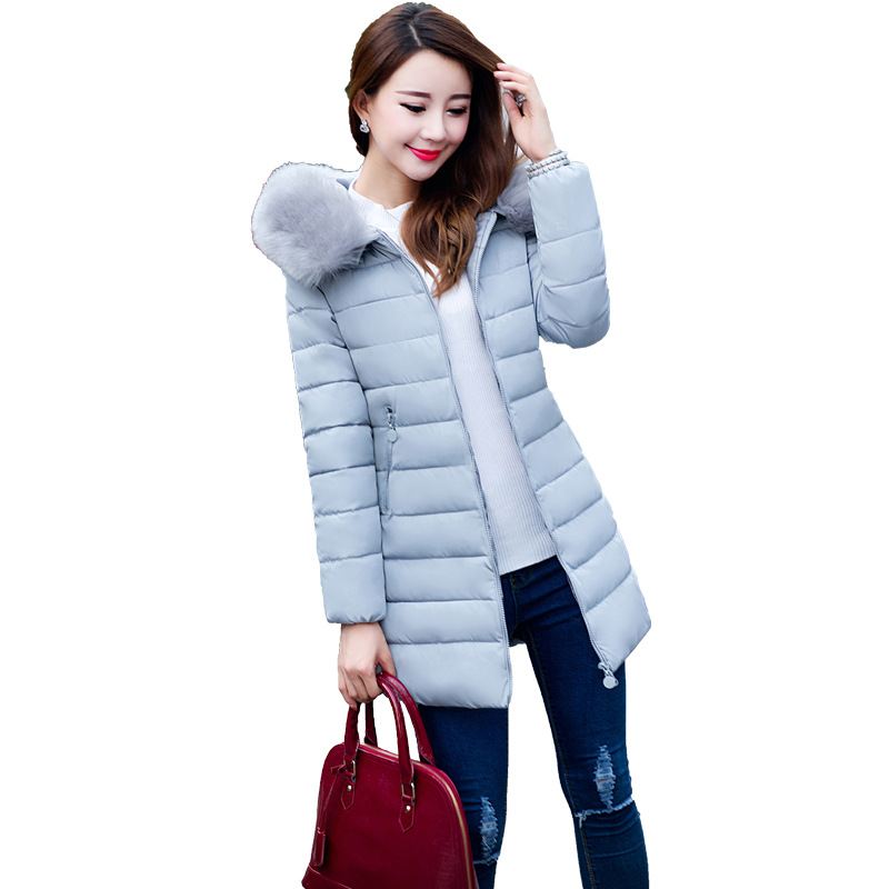 Winter 2016 long female Jacket big yards 7xl 6xl 5xl cotton-padded clothes thick cotton-padded jacket coat Fur collar YRF1611010Одежда и ак�е��уары<br><br><br>Aliexpress
