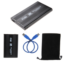 "2.5"" HDD External Enclosure USB 3.0 Hard Disk Drive Box Case Caddy with USB 3.0 Cable Cord for 2.5"" SATA Hard Drives"