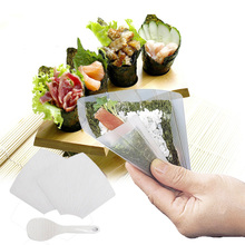 Plastic Sushi Tools Two Hand Roll Temaki Sushi Molds DIY Sushi Maker Mould With Rice Paddle Onigiri Bento Rice Ball Maker Tools(China)