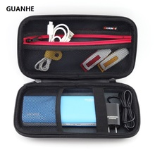 GUANHE Hard Shell Carrying Storage Travel Case Bag for ROMOSS Powerbank/External Hard Drive/HDD/Electronics/Accessories U disk(China)