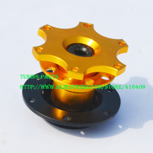 Top Quality Universal Formula Gold Steering Wheel Quick Release Hub(China)