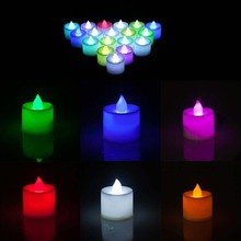 LED Cup Candle Light Wedding Event Marriage Anniversary Tealight Votive Candle With Holder CLH