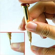 2pcs/lot Practical Nail Art Design Tips Dangle Metal Pierce Piercing Hand Drill New Tool(China)