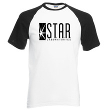 For Fans The Flash STAR S.T.A.R.labs men t shirt 2017 summer hot sale 100% cotton raglan men t-shirt fashion brand clothing(China)