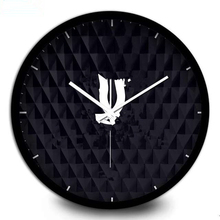 New! Classic pattern wall clock Metal frame with famous logo black wall clock good quality 30cm/35cm 12inch/14inch(China)