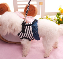Pet chest straps Cowboy stripe vest type chest straps Small dogs traction rope dog supplies