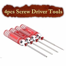 Buy 4pcs/set Screw Driver Tools Kits Holder Set RC Helicopter Plane Red A676 for $8.51 in AliExpress store