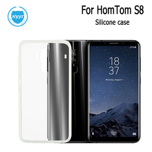 For Homtom S8 Silicone Case Soft Transparent Protective Back Cover  Anti-knock Shell For Homtom S8 Mobile Phone Case Accessories