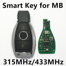 Car Smart Remote Key 315MHz 433 MHz for Mercedes BENZ 2000+ with NEC&BGA 2 Buttons Keyless Entry