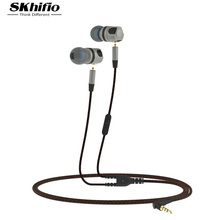 SKhifio Detachable Cable Earphone Earpiece Headset HiFi Dynamic Earbuds Super Deep Bass for Mobile Phone Tablet Mp3 Player PC
