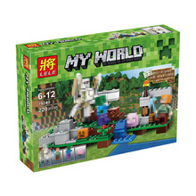 My World Series Best Educational Building Blocks For Toddlers Iron Golem Clever Toys Compatible LegoINGlys Minecrafter 220 Pcs(China)