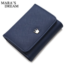 Mara's Dream Wallet Female Crown Lady Short Women Wallets Mini Money Purses Fold PU Leather Bags Female Coin Purse Card Holder