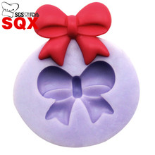 MINI 3d Bow Bowknot silicone cake mold For fondant decorating tools Mould silicone soap DIY cooking tools SQ15333(China)
