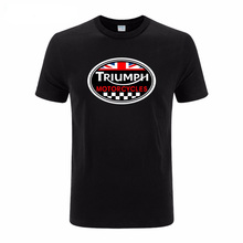 Mens t shirts fashion TRIUMPH MOTORCYCLE Logo t shirt cotton leisure O neck short sleeved euro size t-shirts Casual Tops Tees(China)