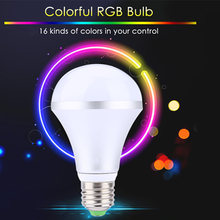 Lightme Smart E27 LED Bulb AC 110 - 220V 10W 1000LM 16 Colors Dimmable LED Light With Remote Control Bedroom LED Lights
