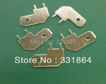 90 degrees (6.3mm) plug terminals / terminals / lug / PC board soldering terminals / plug spring / patch piece 100 pcs(China)