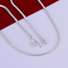 N192 low price promotion! Top quality 3MM 16-24inches Silver snake chain necklace fashion jewelry for men 10pcs/lot(China)