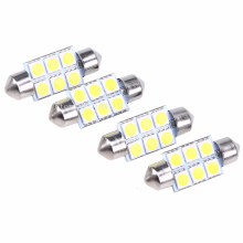 10Pcs Auto Festoon 31/36/39/41mm 5050 6 SMD White Warm white Crystal Blue Red 12V C5W Car LED Reading/Dome/Licence lamp light.(China)
