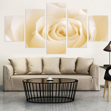 Fashion 5 Pcs Free Shipping Cheap abstract Modern Wall Painting rose flower Home Decorative Art Picture Paint on Canvas Prints