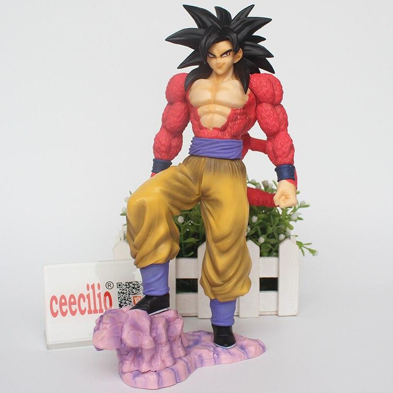 Anime Dragon Ball GT Son Goku Statue PVC Action Figure Super Saiyan 4 goku Collectible Model Toy 26cm<br>