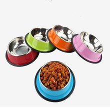 Feeding supplies Pet Sports Pet Dog Food Dog Bowls Dog Bowls Pet Bowls Outdoors Drinking Water Fountain Pet Dog stainless steel(China)