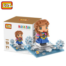 LOZ Single Sale Mini Princess Anna Cute Dolls Diamond Bricks Elsa Sister Models Building Blocks Toys Children 9498 - LOZs Block Store store