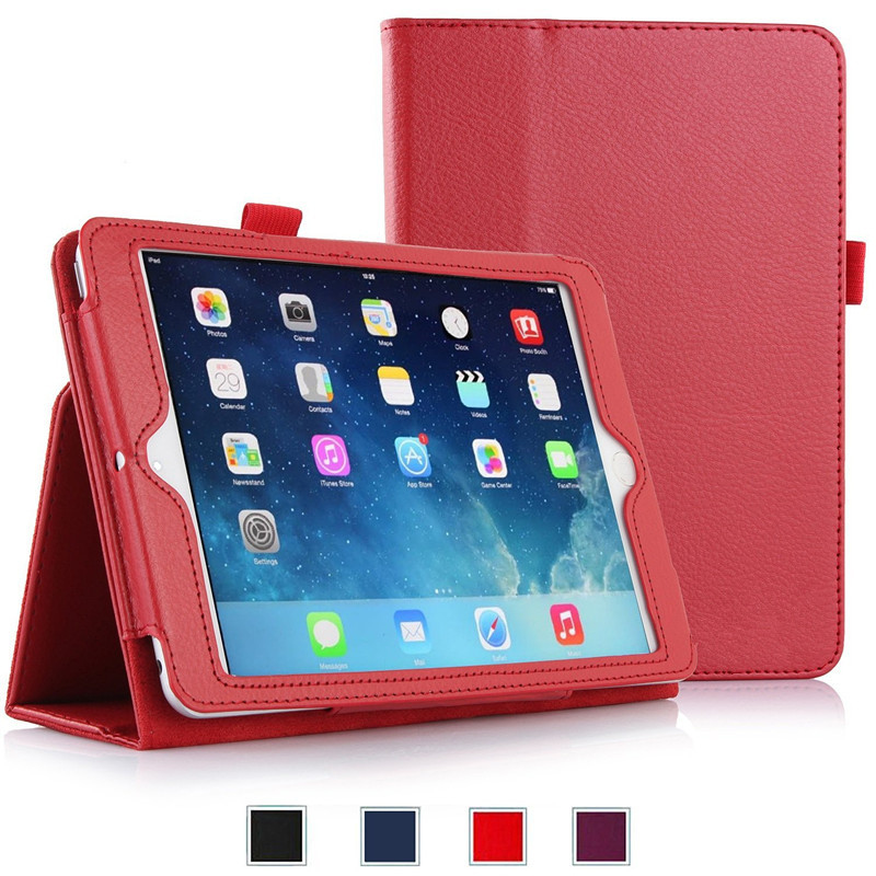 50Pcs/lot Slim Fit Leather Folio Case with Smart Cover Auto Sleep / Wake Feature for Apple iPad Air 2 (iPad 6) 2014 Model<br><br>Aliexpress