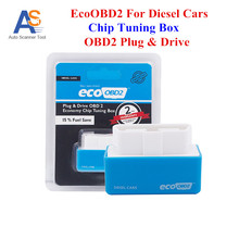 Eco OBD2 Chip Tuning Box Blue Color 15% Fuel Save Eco OBD2 For Diesel Cars More Power & Torque Eco OBD Diesel Interface