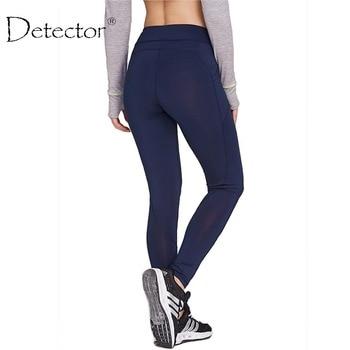 Detector mujeres yoga leggings sport alta cintura delgada corriendo pantalones de entrenamiento de la aptitud de primavera invierno de las mujeres legging