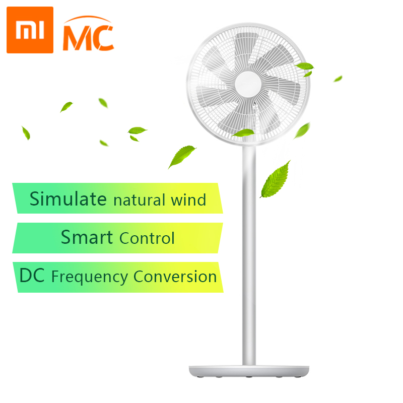 Xiaomi Mi Smartmi Natural Wind Pedestal Fan 2 2S with MIJIA APP Control DC Frequency Fan 20W 2800mAh 100 Stepless Speed Control(China)