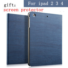 Smart Flip Stand Cover Case for ipad 4 3 2 case cover protective sleeve ipad2 ipad3 ipad4 case slim Tablet protective shell(China)
