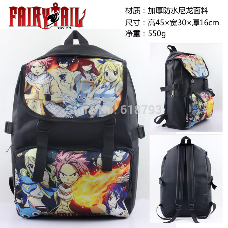 2016 new Fairy Tail bags Anime school daily backpacks cartoon backpack AB109<br>