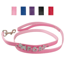 5 Colors Brand New Personalized Customized Snakeskin PU Leather Dog Leash Walking Dog Pet Lead
