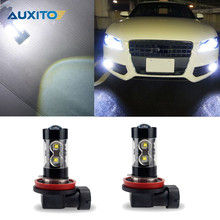 2X H7 H3 H8 H11 H1 Car LED Fog Light Bulb Xenon White 50W DRL Light Lamp For Audi A3 A4 B6 B8 B7 A6 C5 80 A5 Q7 TT Q5 A1 Q3 100