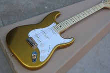 maple Scalloped Fingerboard Vintage gold goldtop golded hardwae Yngwie Malmsteen Guitar Big Head stratocaster Electric Guitar