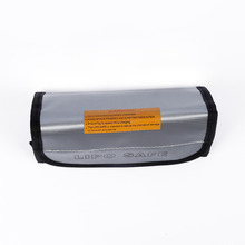 RC Helicopters Charge Sack Lipo Guard Bag Silver 185*75*60mm 1PCS RC LiPo Battery Fireproof Safety Bag Safe Guard(China)