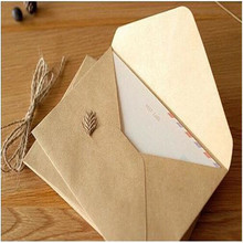 50PCS/lot NEW Vintage DIY Multifunction Kraft paper envelope 16*11cm Gift card envelopes for wedding birthday party(China)