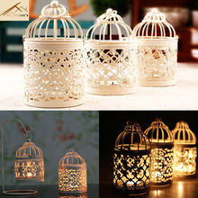 freeshipping Aliexpress ship Retro hollow metal candle holder wedding christmas home decoration candle holders romantic ideas(China)