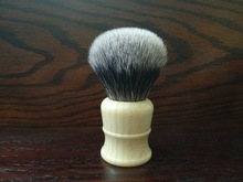 FS-#SYF28-FI33, Synthetic hair/Faux Finest hair,Faux Ivory handle Shaving Brush, Big Knot 28mm+FREE STAND+FREE SHIPPING(Hong Kong)